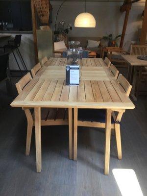 Showroom tafel-set Aurora