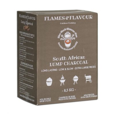 Flames & Flavour Zuid-Afrikaanse Black Wattle Houtskool 8,5KG